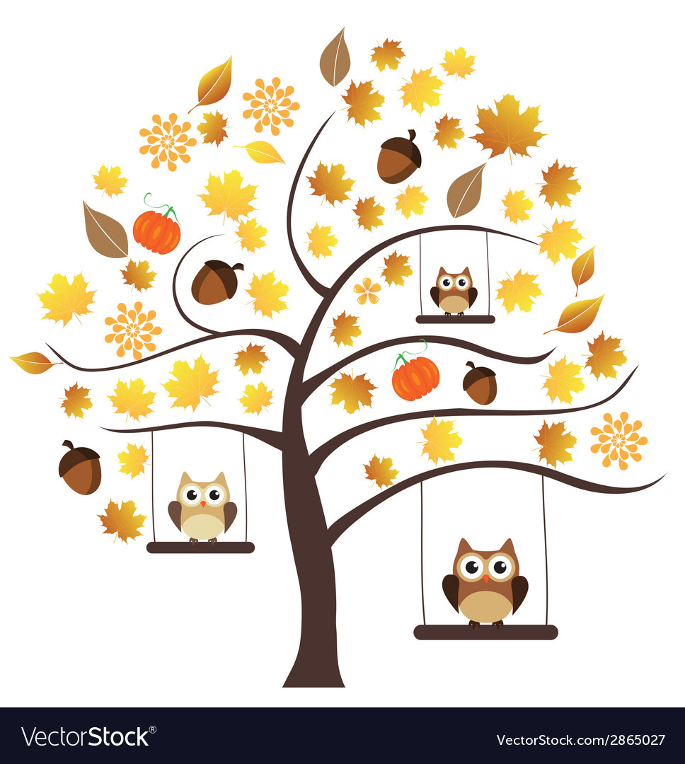 Fall owls vector   Price: 1 Credit (USD $1)