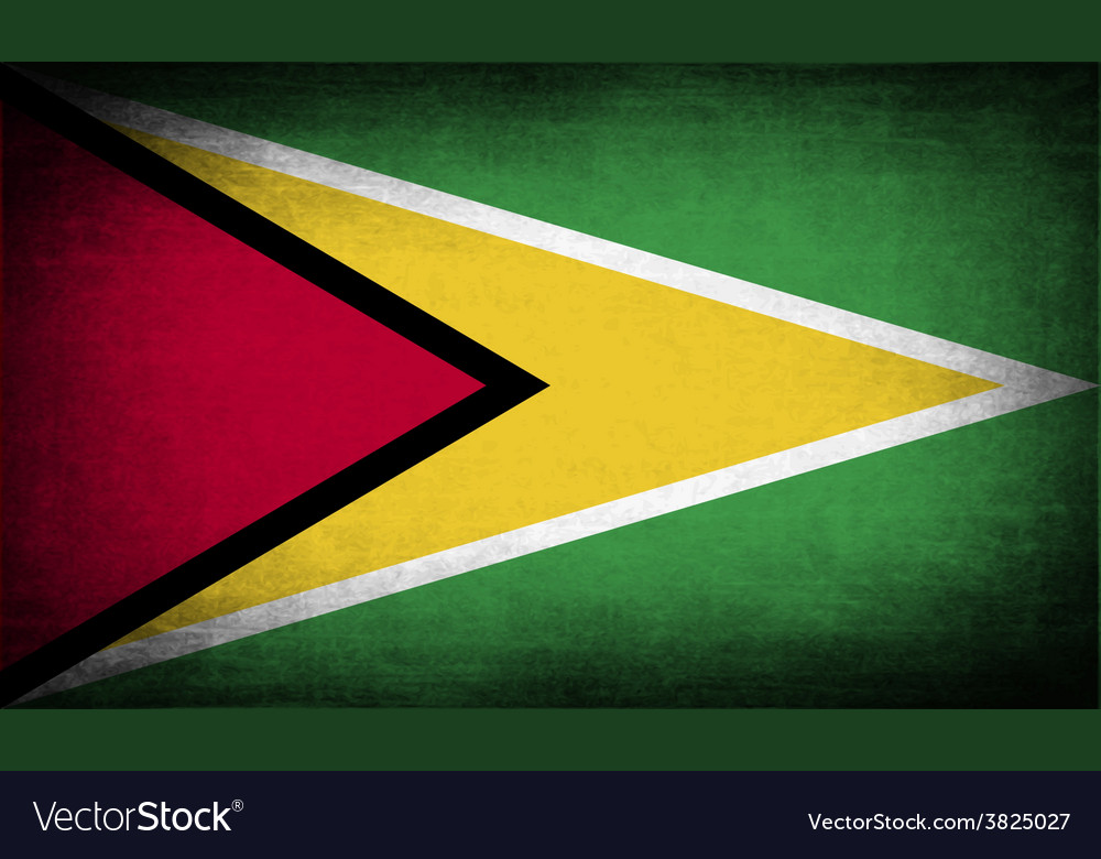 Flag of guyana with old texture vector | Price: 1 Credit (USD $1)