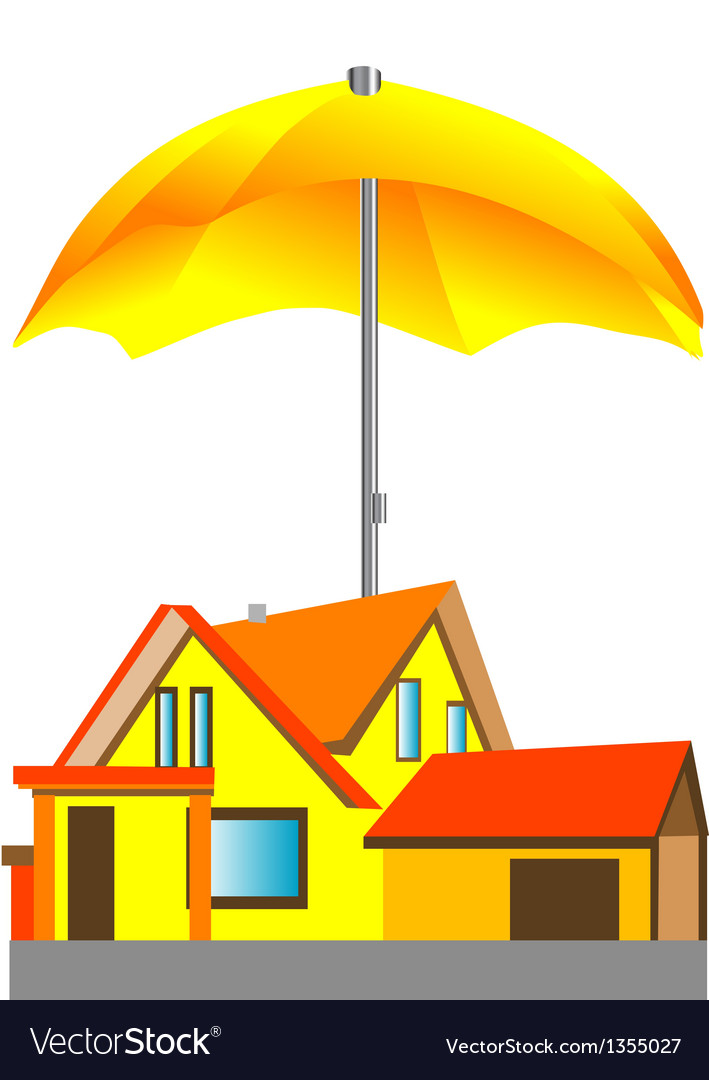 House under the umbrella vector | Price: 1 Credit (USD $1)