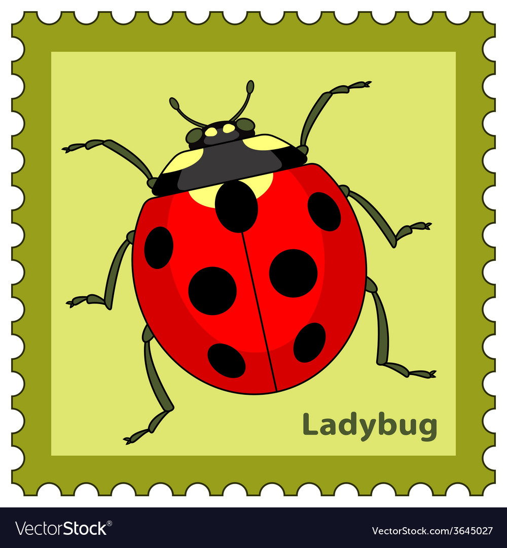 Ladybug stamp vector | Price: 1 Credit (USD $1)