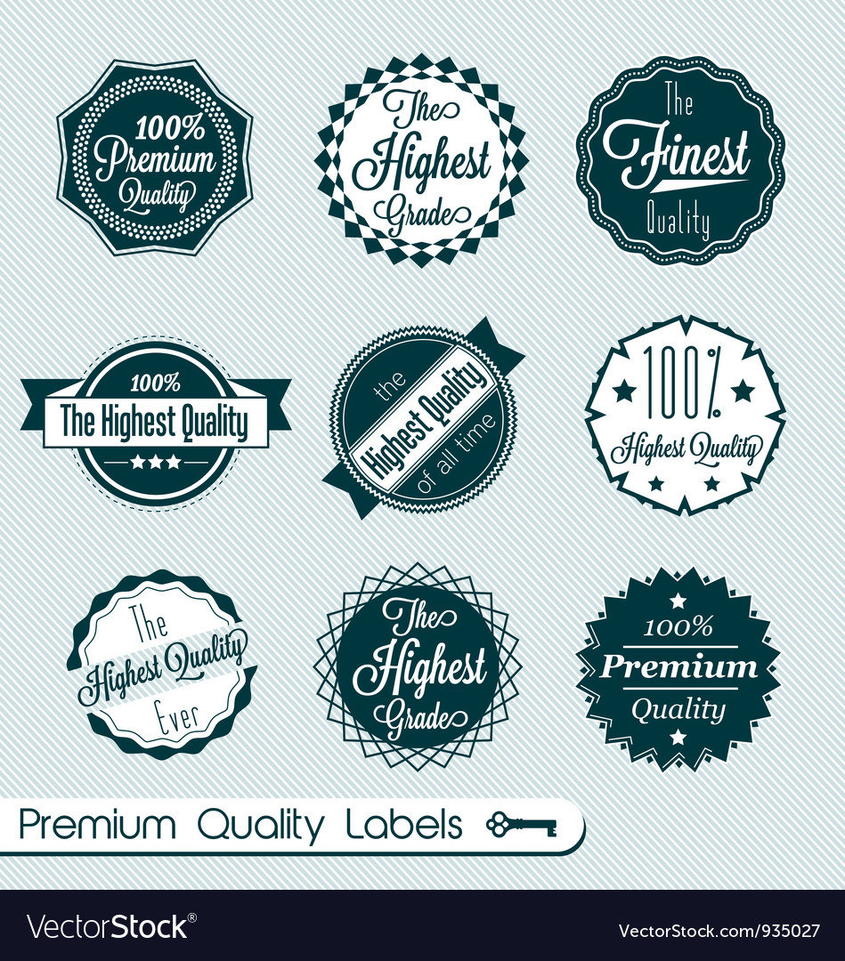 Premium quality labels vector | Price: 1 Credit (USD $1)