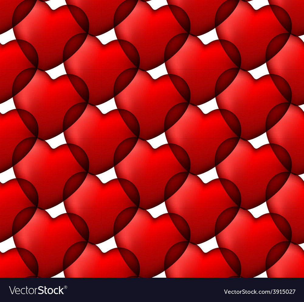 Red love seamless background of heart bubbles vector | Price: 1 Credit (USD $1)