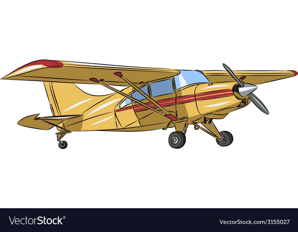 Small plane vector | Price: 1 Credit (USD $1)