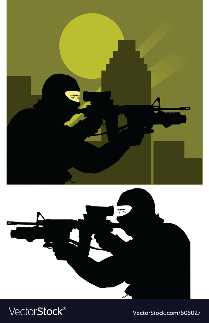 Sniper police vector | Price: 1 Credit (USD $1)