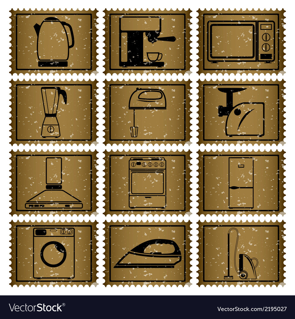 Twelve retro icons vector | Price: 1 Credit (USD $1)