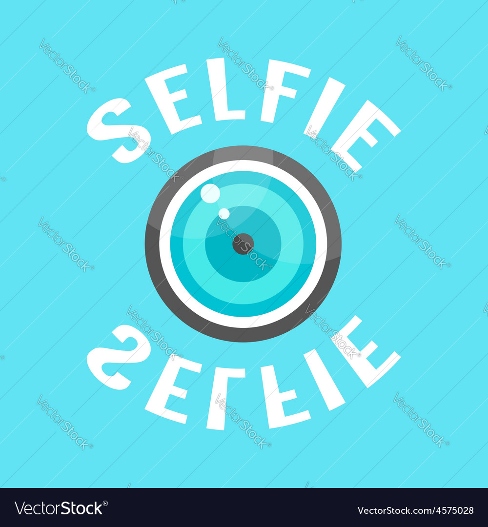 Concept of selfie with lense vector | Price: 1 Credit (USD $1)