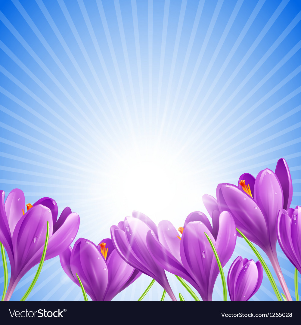 Flowers in spring vector | Price: 3 Credit (USD $3)