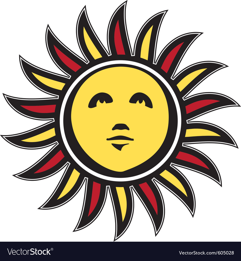 Medieval miniature style sun sketch vector | Price: 1 Credit (USD $1)