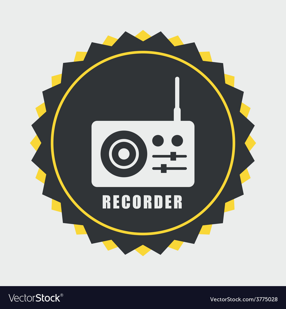 Recorder icon vector | Price: 1 Credit (USD $1)