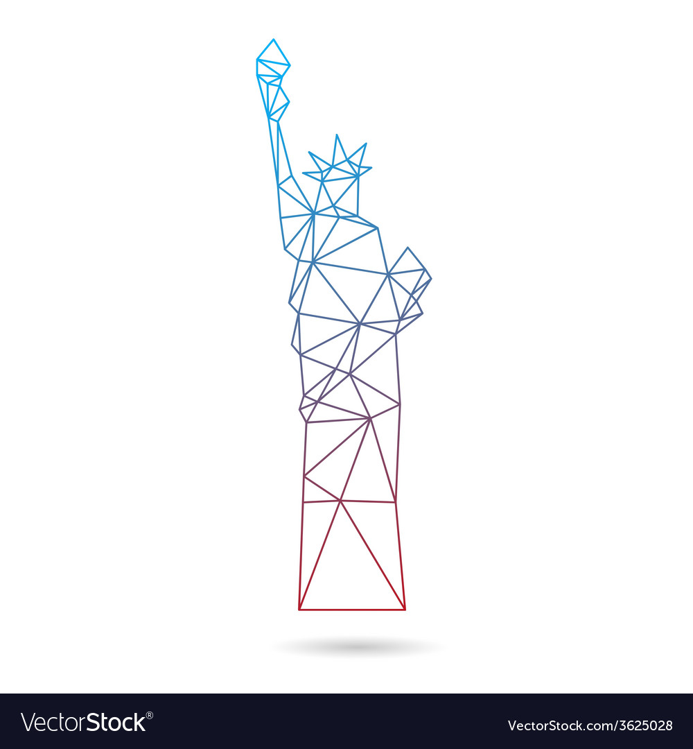 Statue of liberty abstract isolated vector | Price: 1 Credit (USD $1)