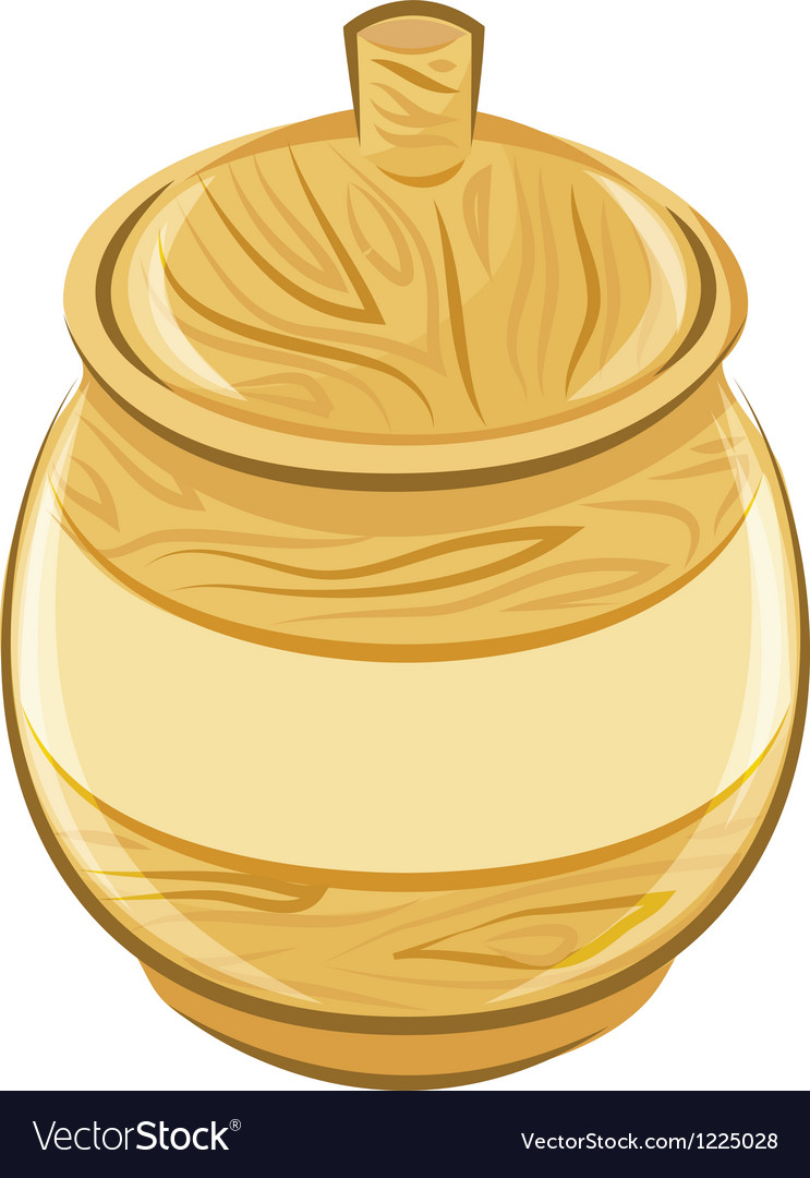 Wooden pot with a lid vector | Price: 1 Credit (USD $1)