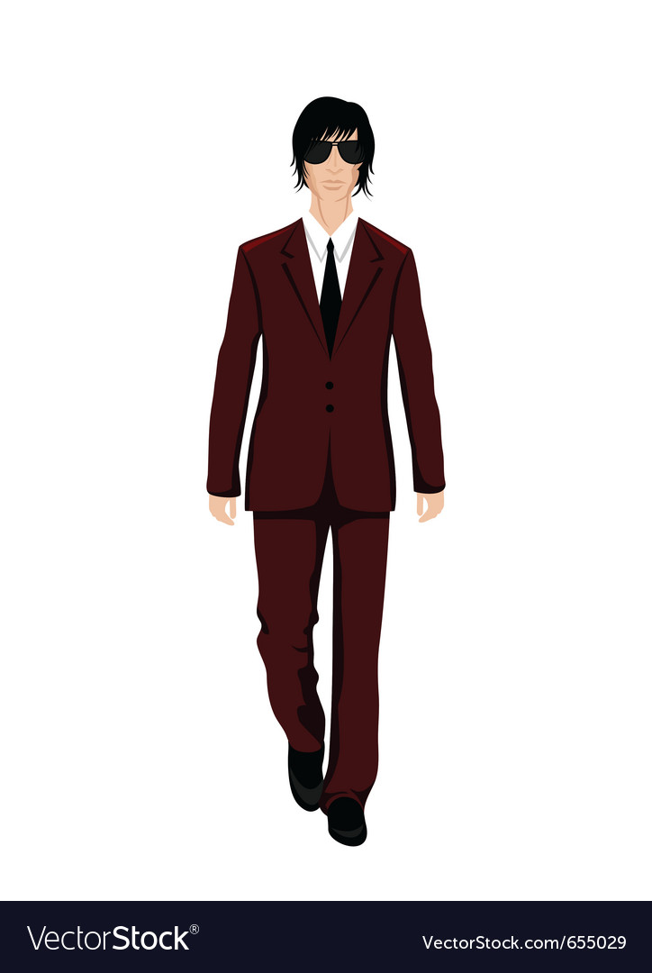 Businessman in suit isolated - vector | Price: 3 Credit (USD $3)