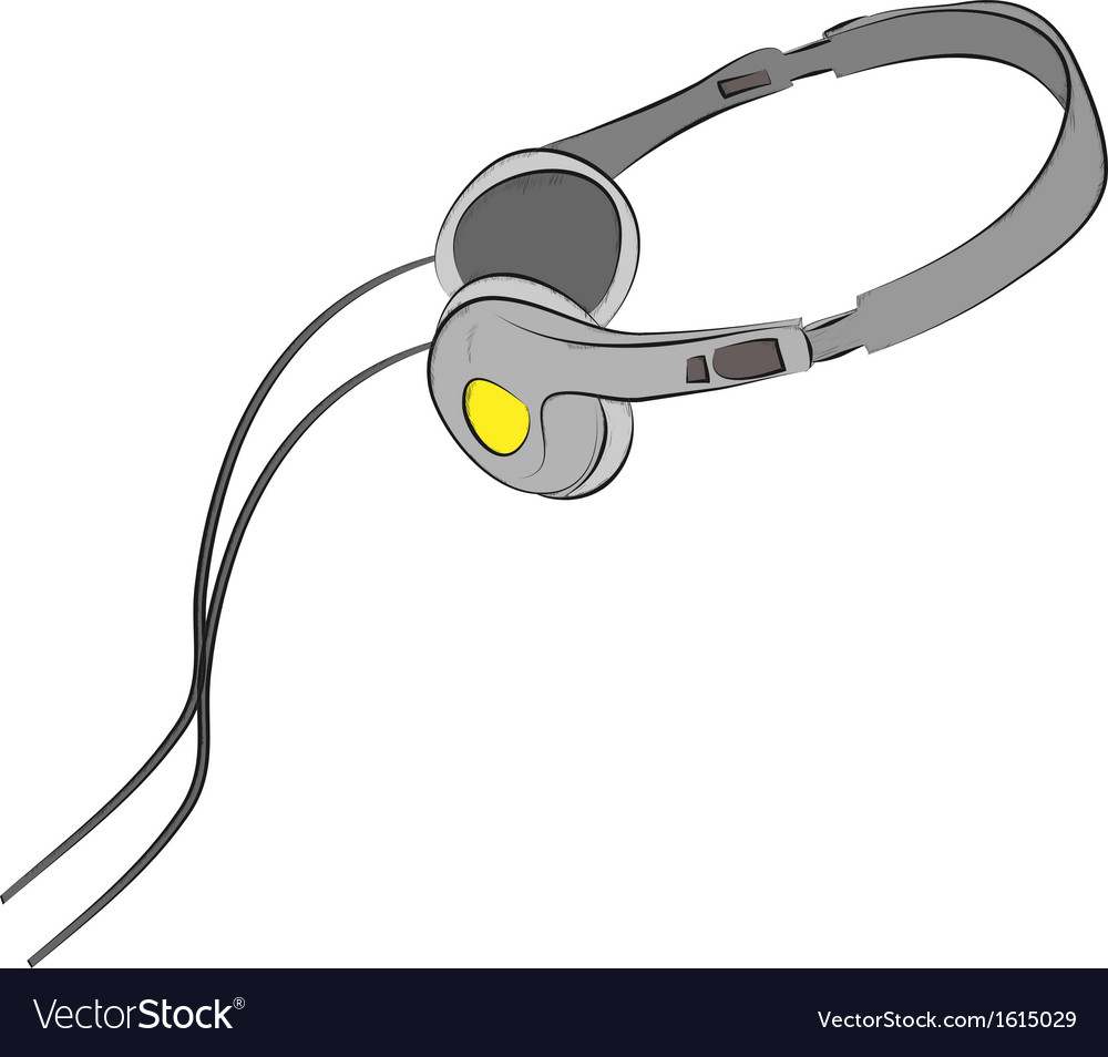 Earphone vector | Price: 1 Credit (USD $1)