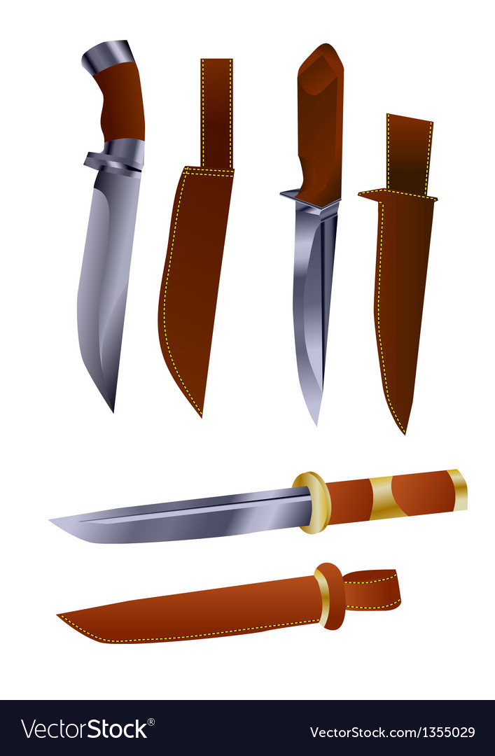 Hunting knives vector | Price: 1 Credit (USD $1)