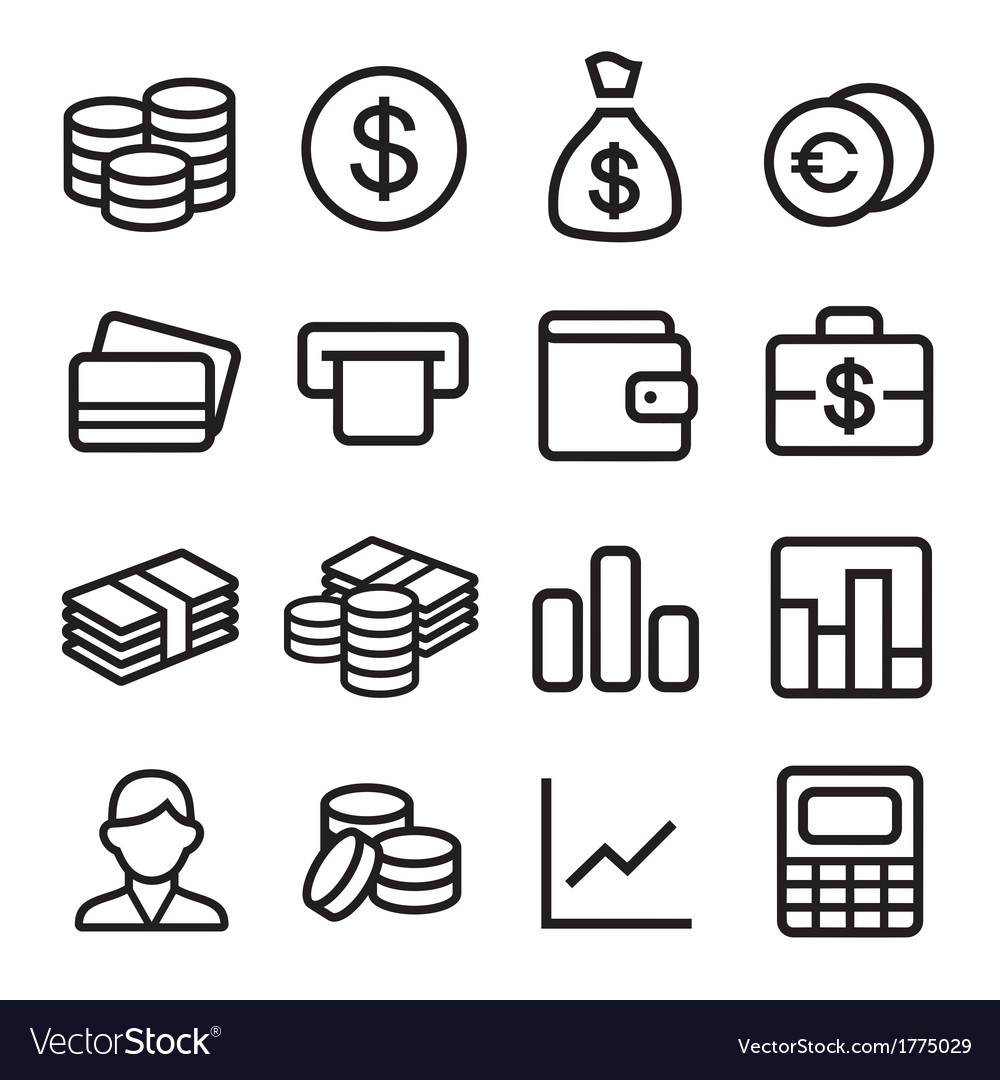 Money ios 7 icon set vector | Price: 1 Credit (USD $1)