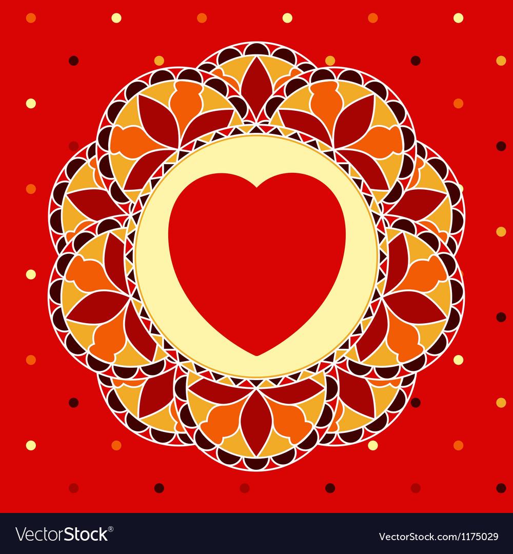 Mosaic valentine vector | Price: 1 Credit (USD $1)