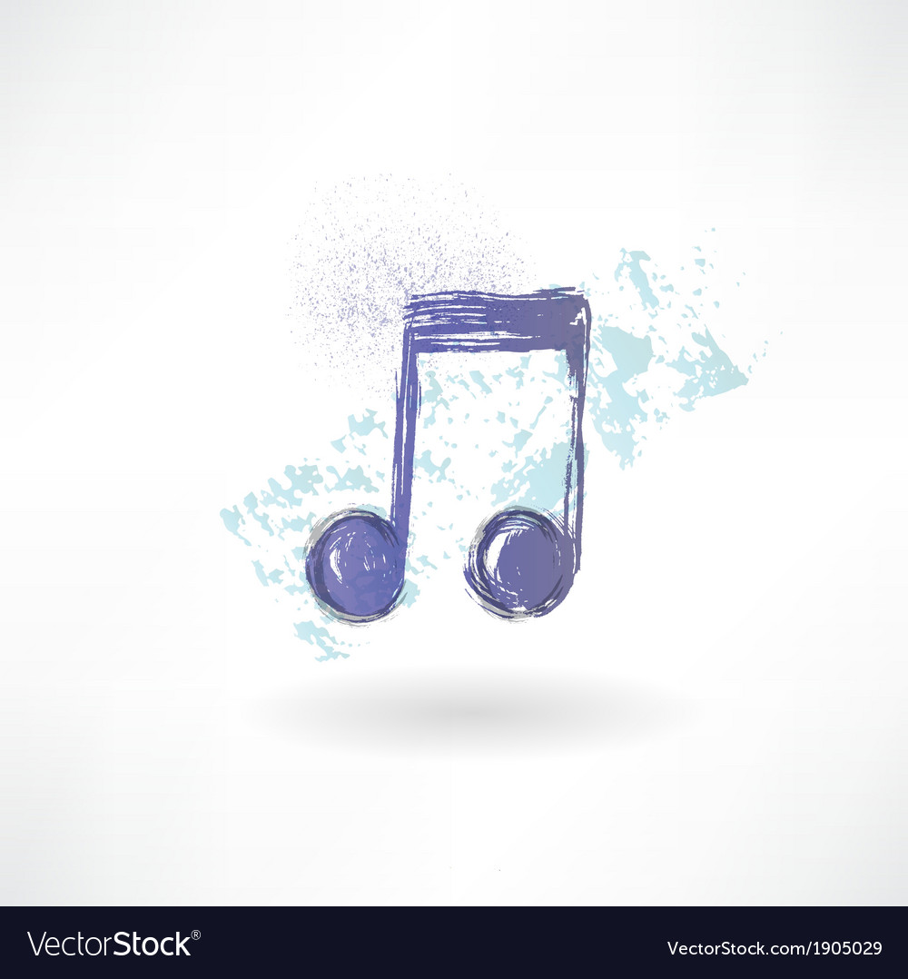 Music grunge icon vector | Price: 1 Credit (USD $1)