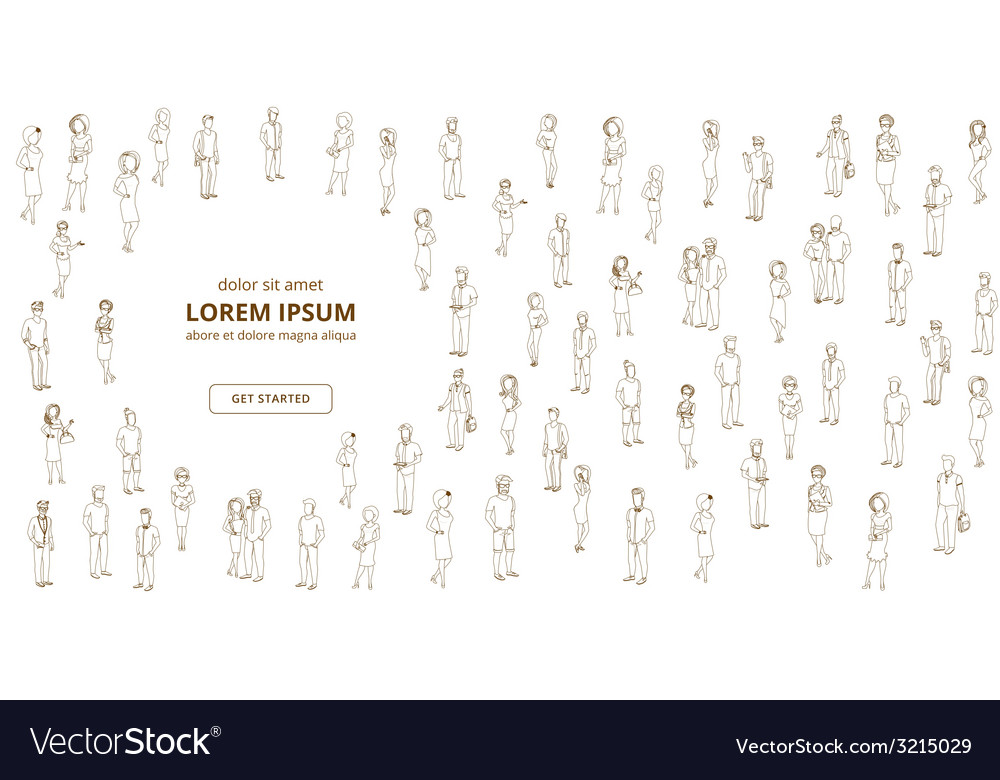 People lined background vector | Price: 1 Credit (USD $1)