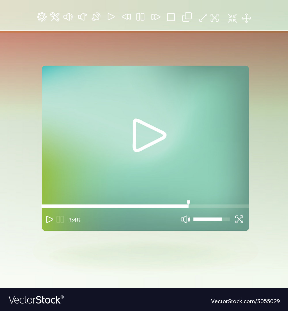 Video player for web and mobile apps vector | Price: 1 Credit (USD $1)