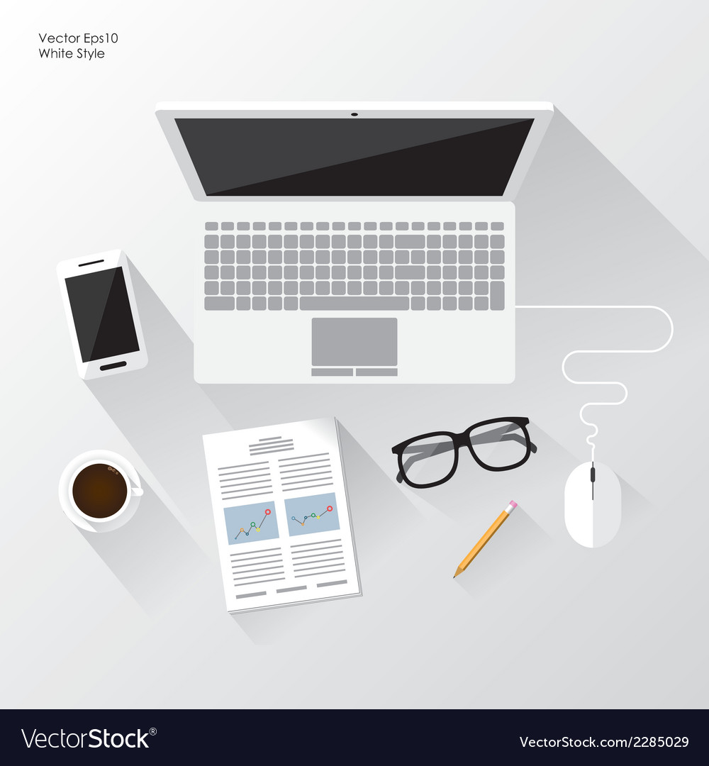 White workspace vector | Price: 1 Credit (USD $1)