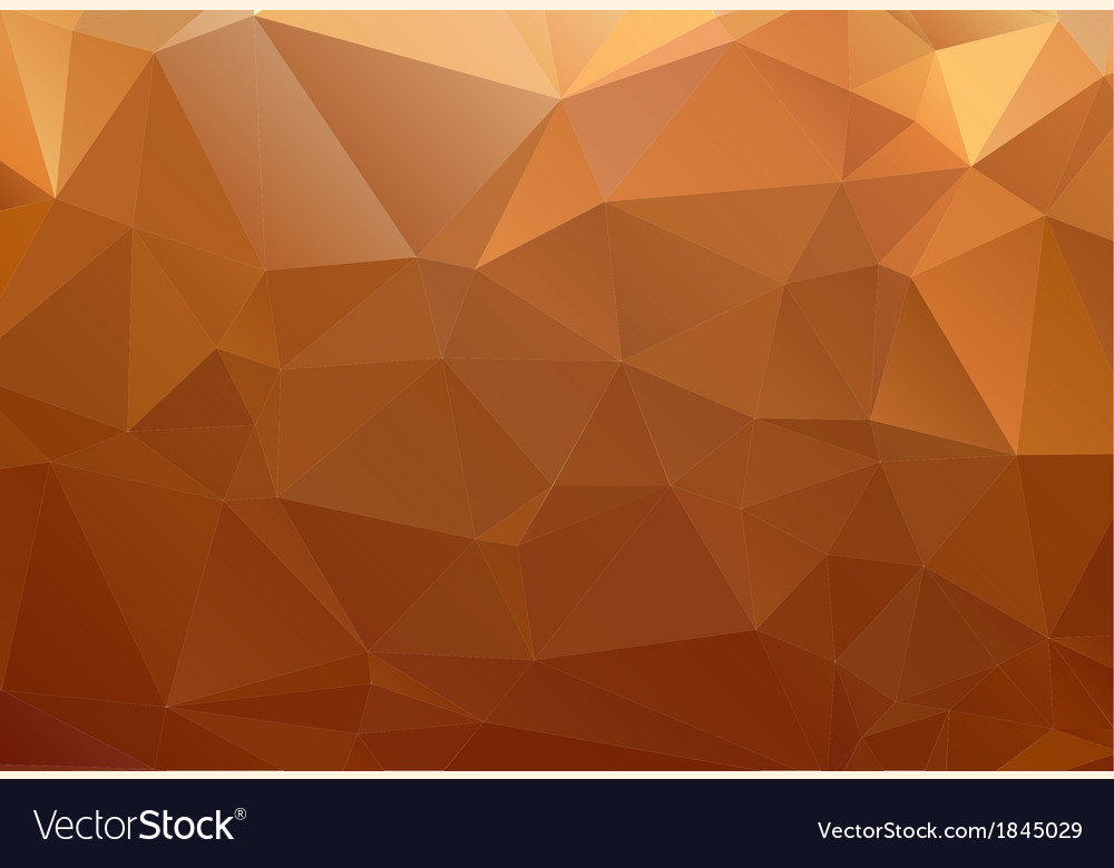 Yellow orange brown abstract background polygon vector | Price: 1 Credit (USD $1)