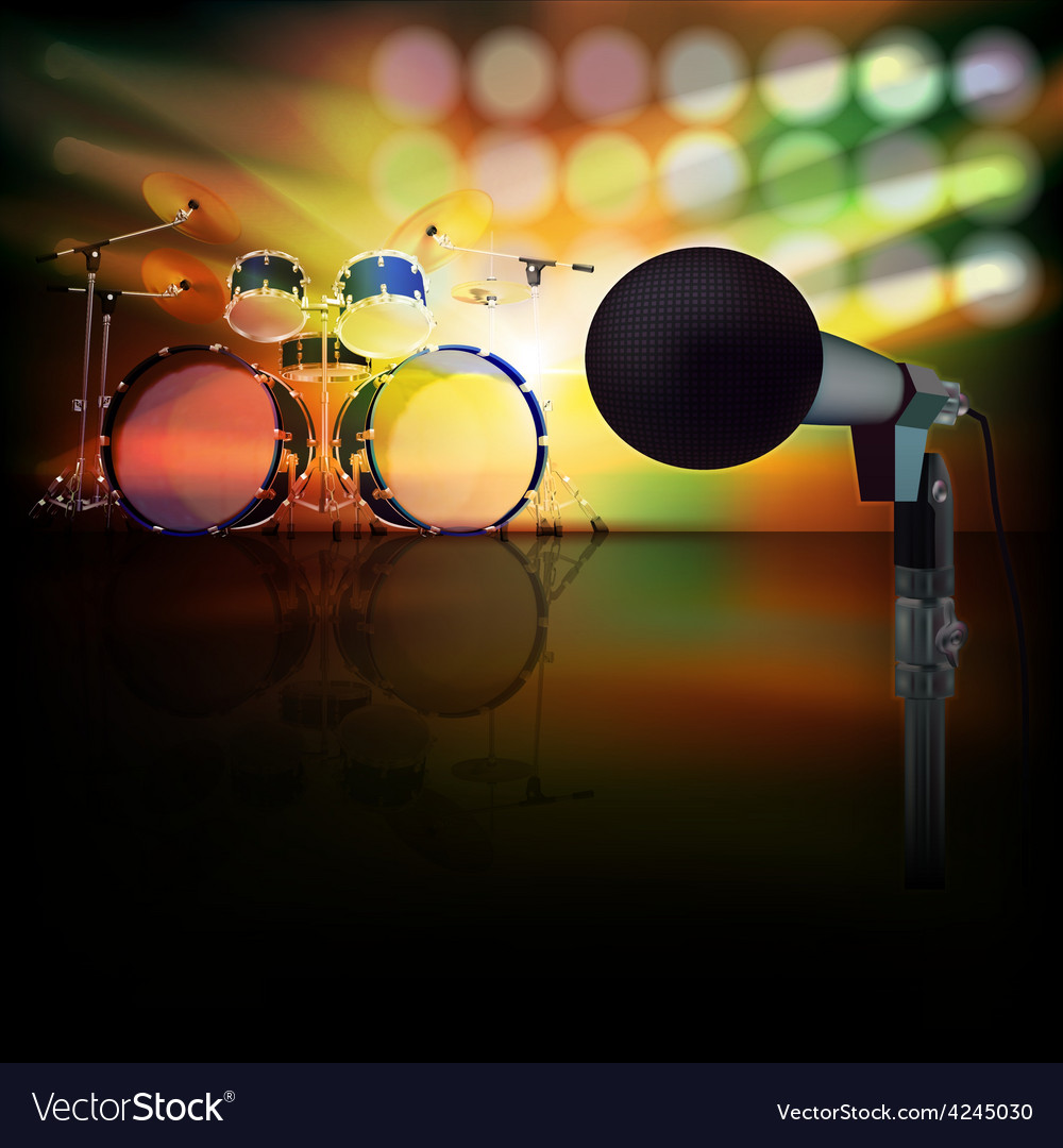 Abstract jazz background with drum kit and vector | Price: 3 Credit (USD $3)