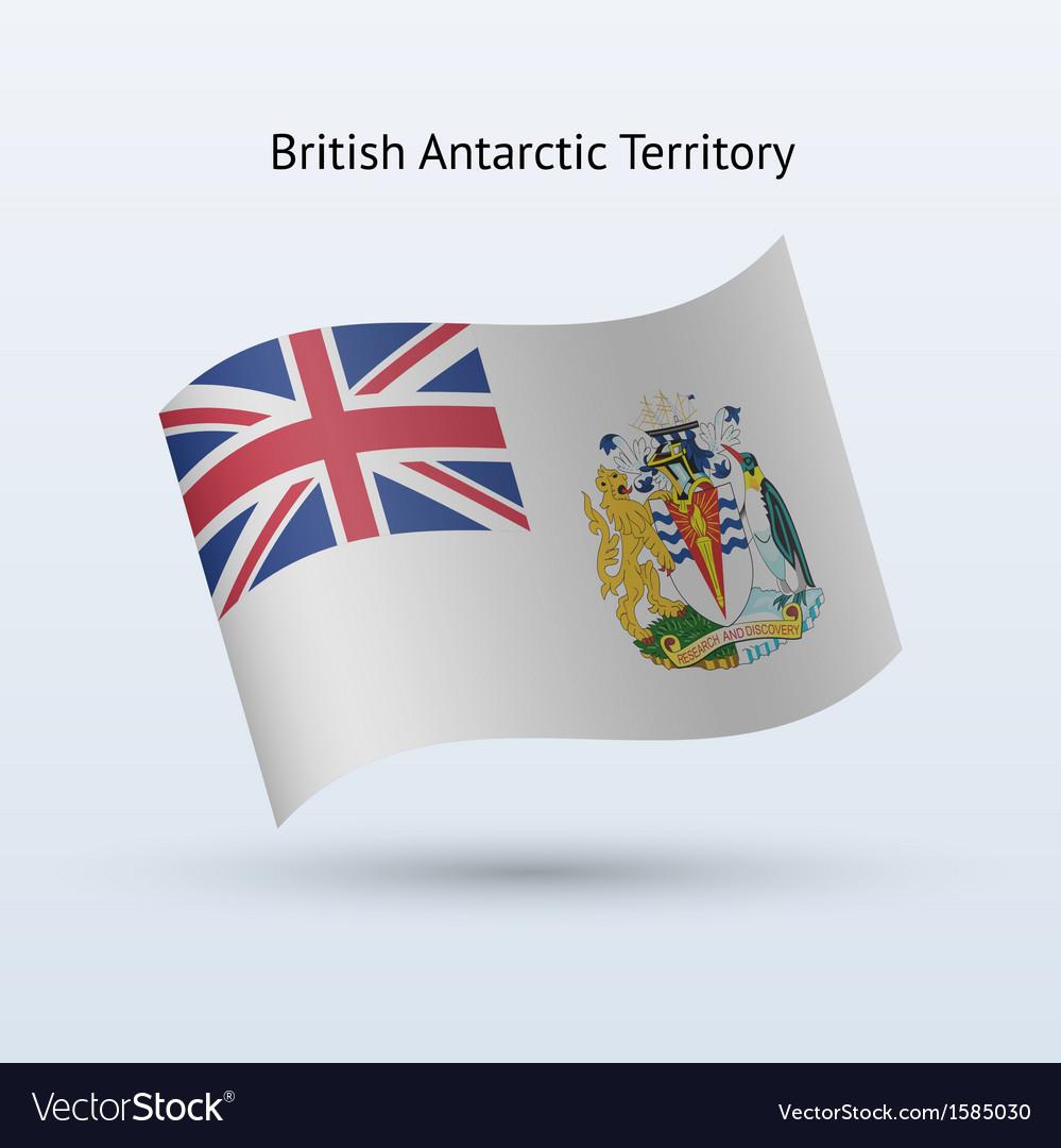 British antarctic territory flag waving form vector | Price: 1 Credit (USD $1)