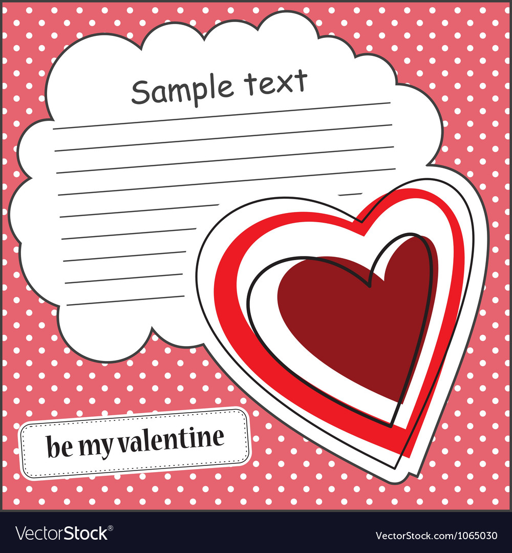 Card with heart and message cloud vector   Price: 1 Credit (USD $1)