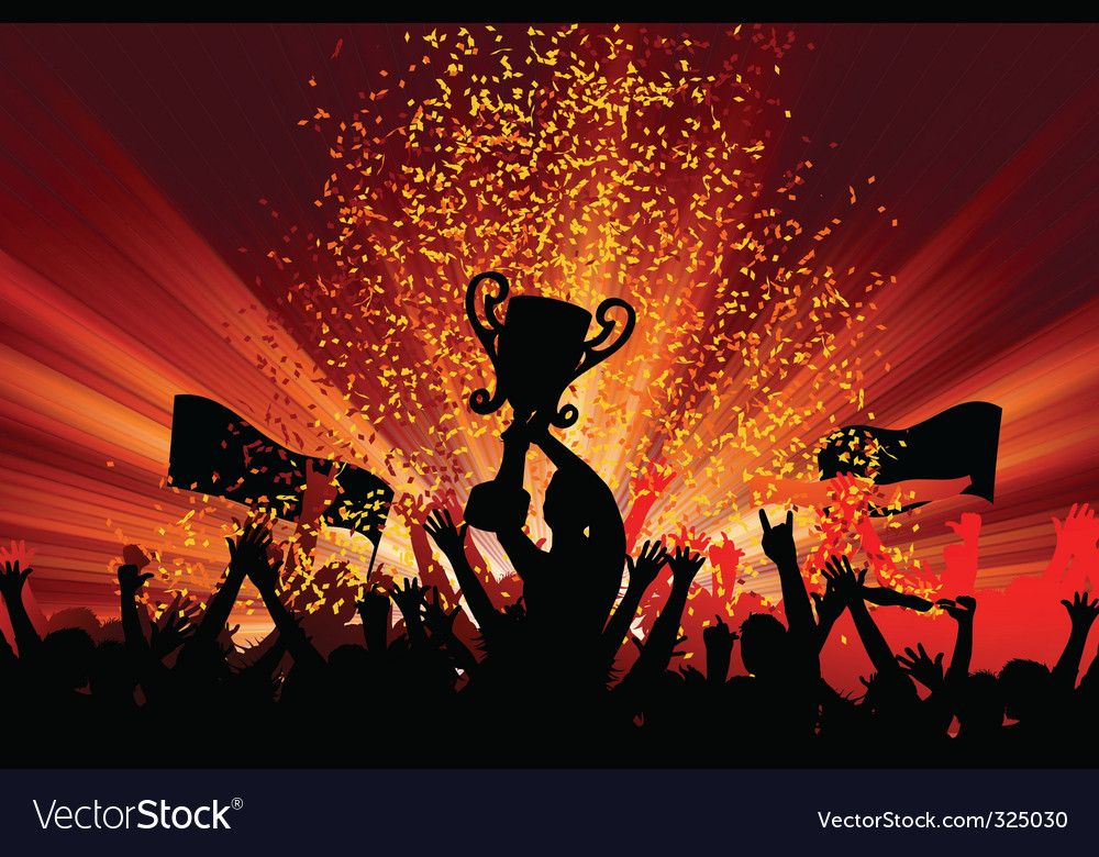 Cheering crowd vector | Price: 1 Credit (USD $1)
