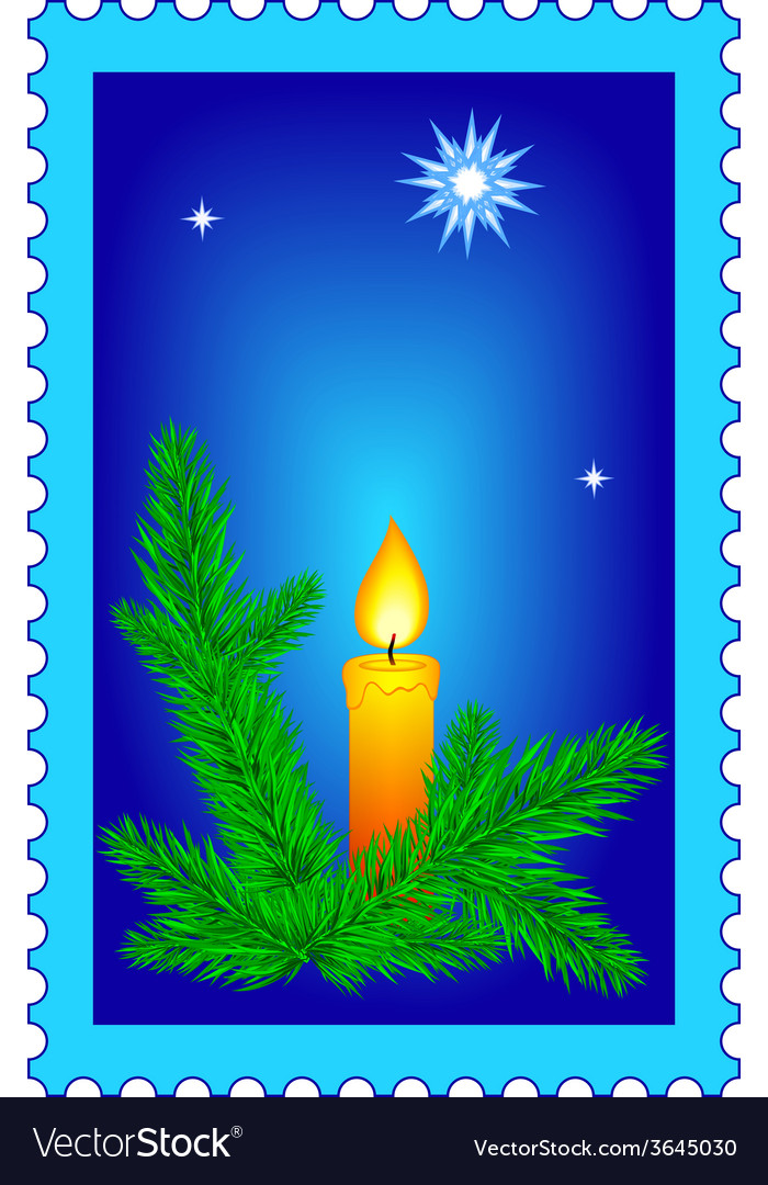 Christmas stamp vector | Price: 1 Credit (USD $1)