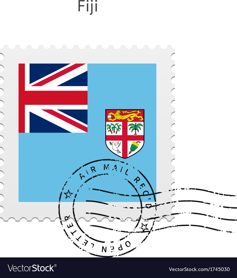 Fiji flag postage stamp vector | Price: 1 Credit (USD $1)
