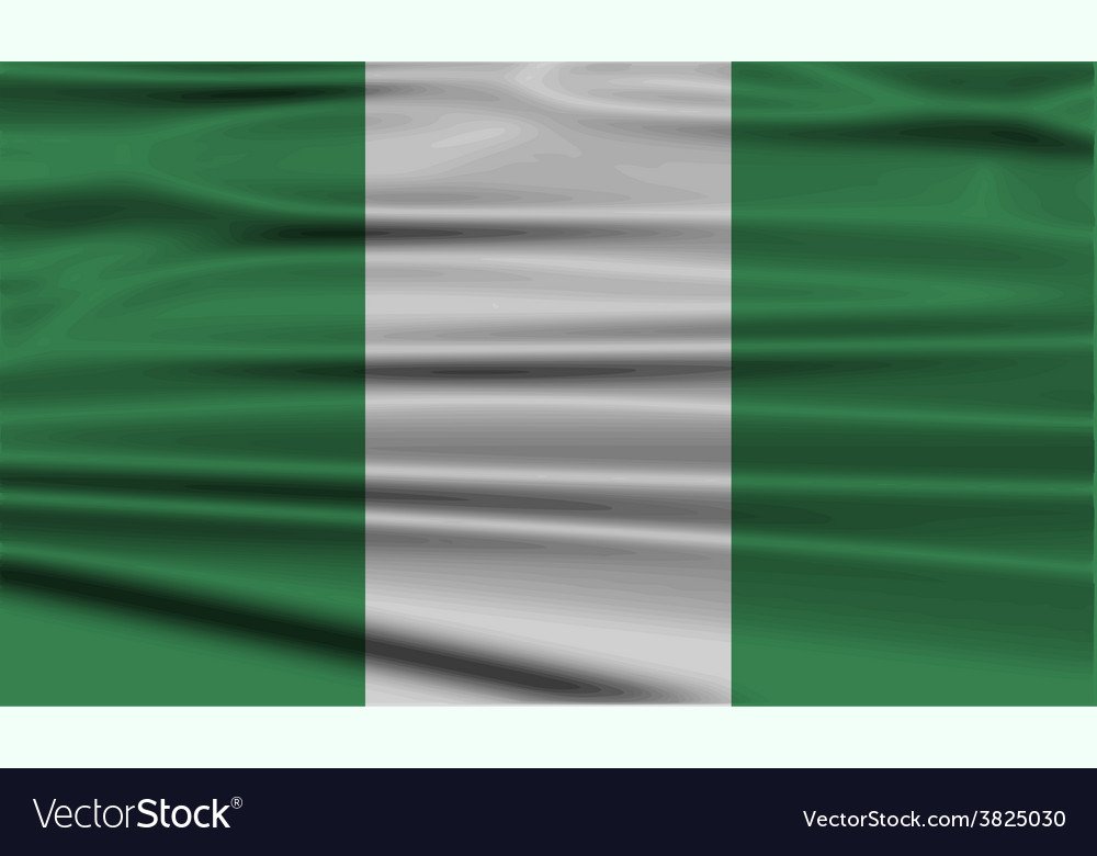 Flag of nigeria with old texture vector | Price: 1 Credit (USD $1)