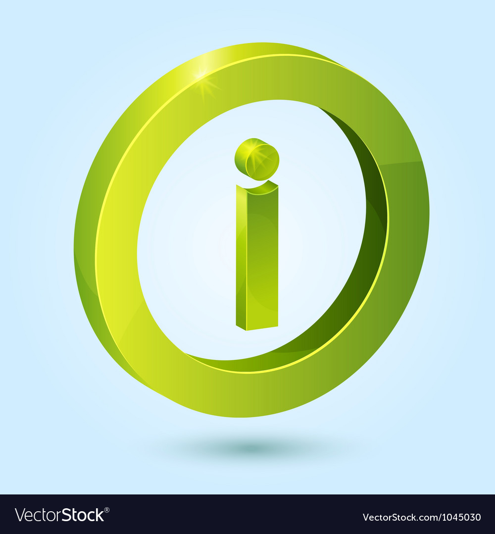 Green info symbol isolated on blue background vector | Price: 1 Credit (USD $1)