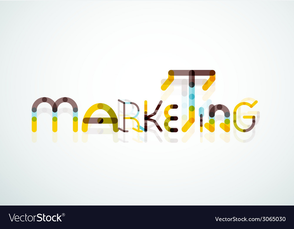 Marketing word font concept vector | Price: 1 Credit (USD $1)