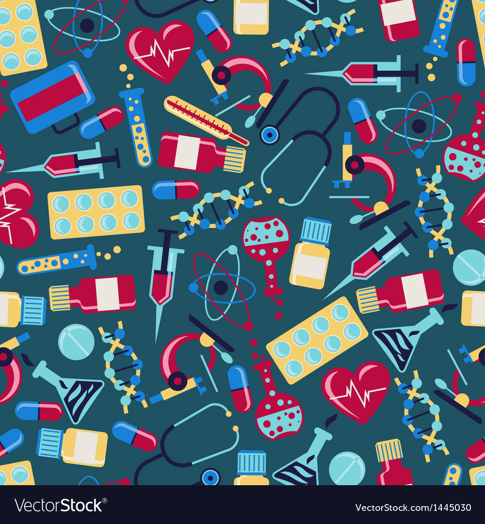 Medical and health care seamless pattern vector | Price: 3 Credit (USD $3)