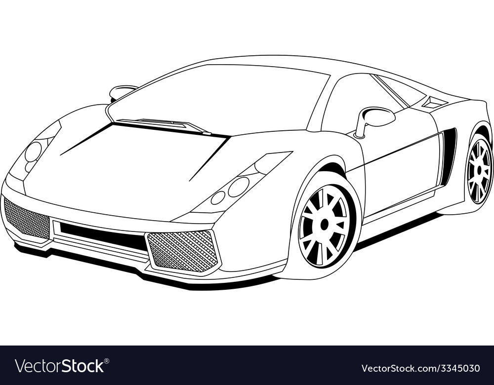Modern car vector | Price: 1 Credit (USD $1)