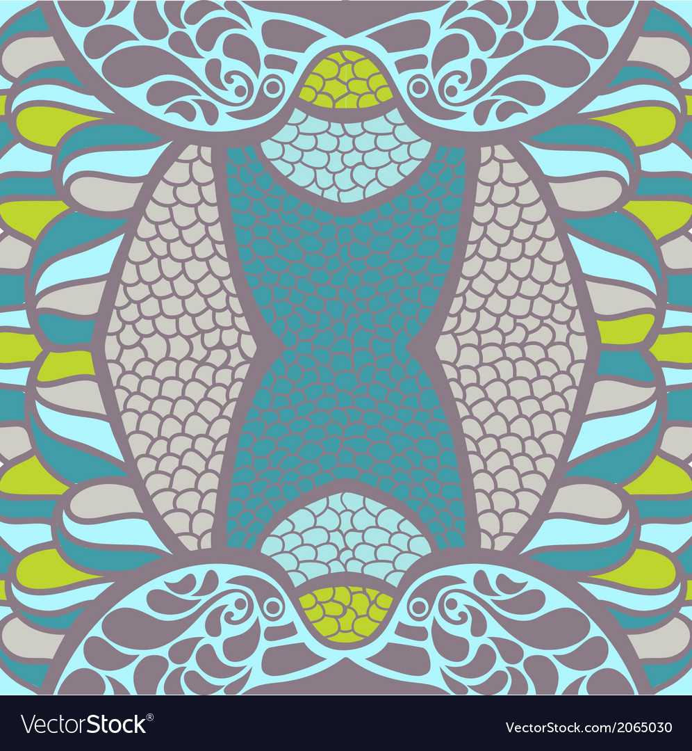 Original ornament psychedelic abstract t vector | Price: 1 Credit (USD $1)