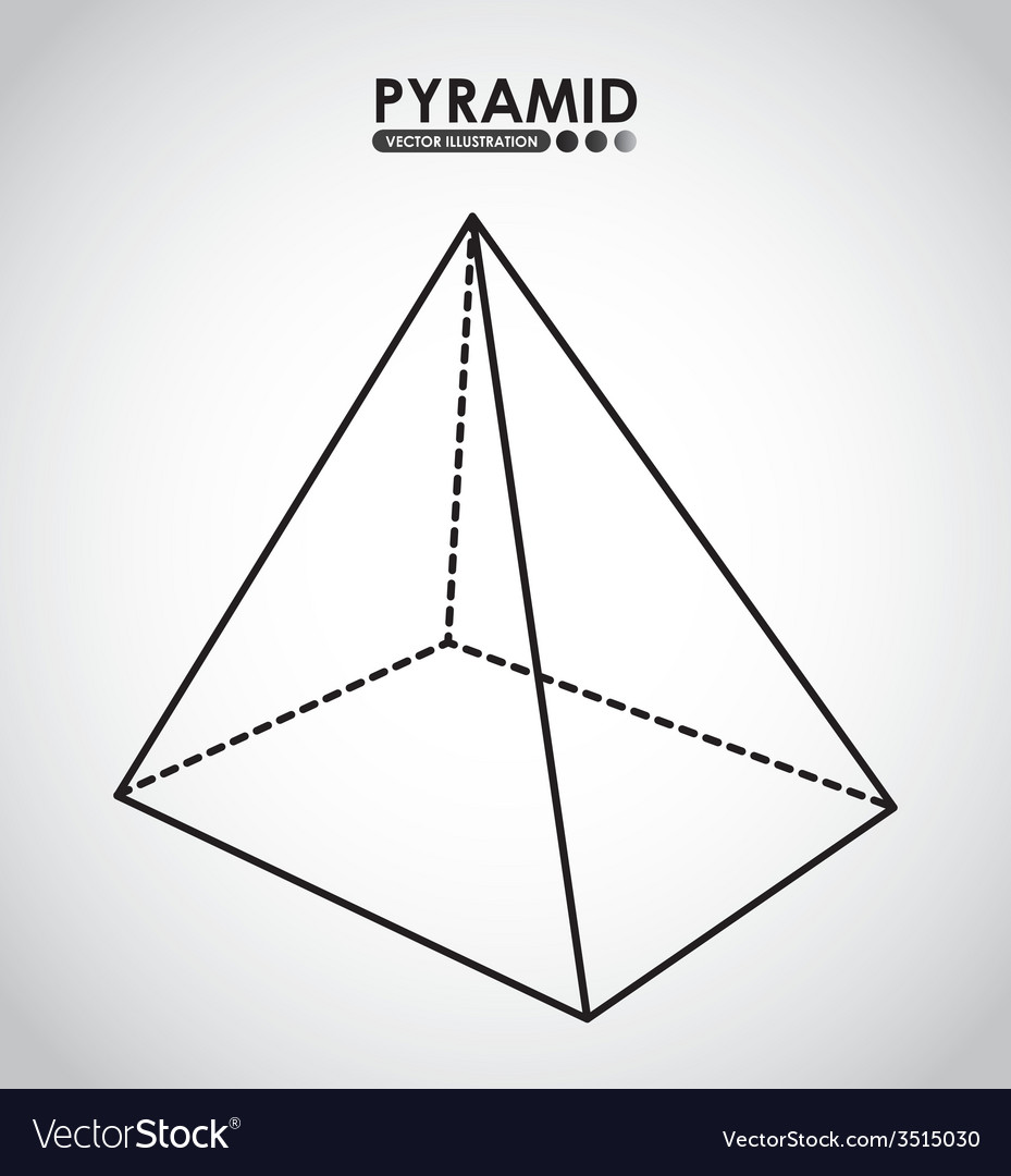 Pyramid icon vector | Price: 1 Credit (USD $1)