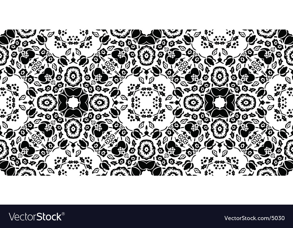 Retro floral pattern vector | Price: 1 Credit (USD $1)