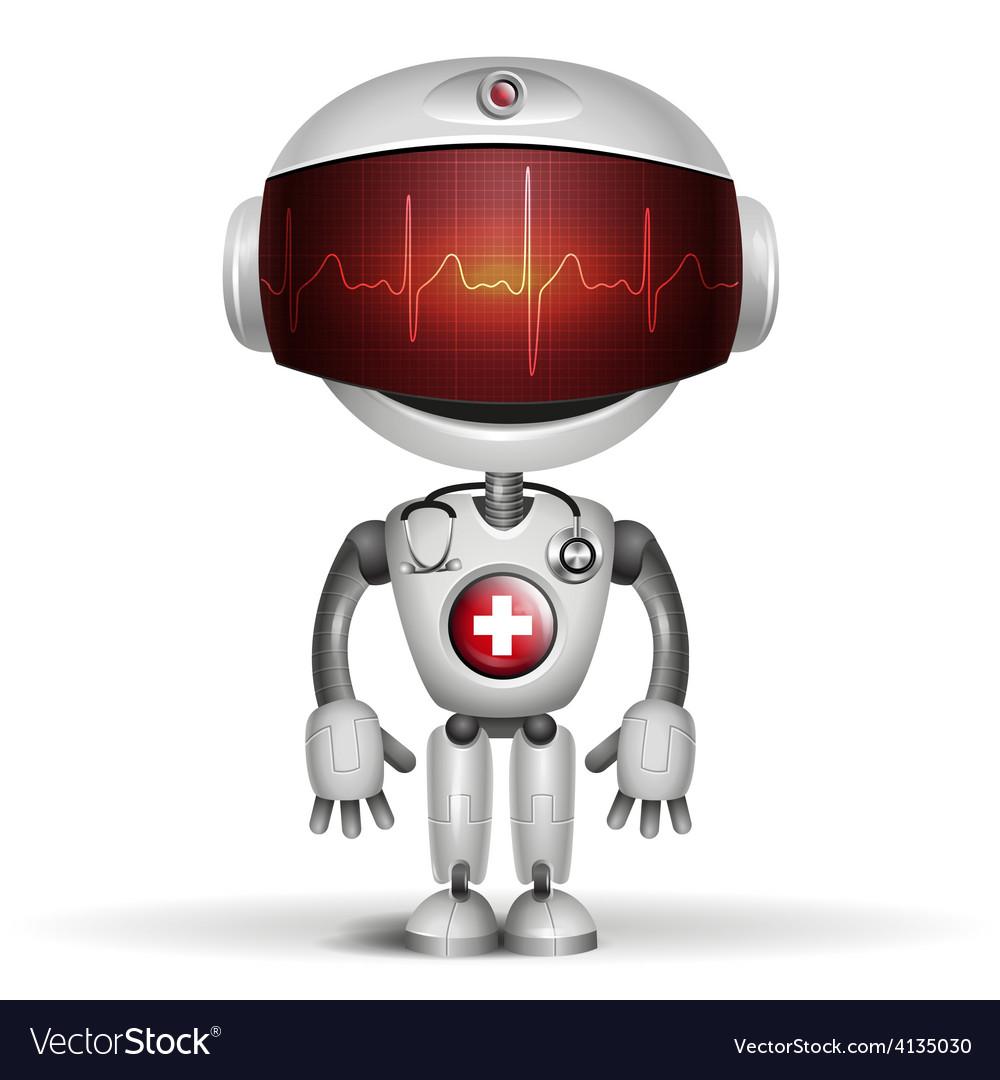 Robot cardiogramm vector | Price: 3 Credit (USD $3)