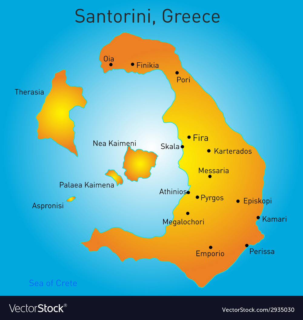 Santorini  greece vector | Price: 1 Credit (USD $1)