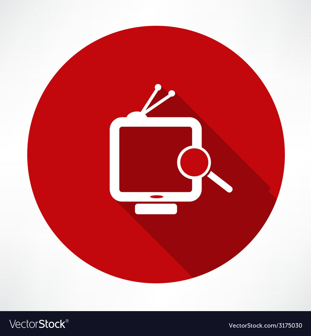 Searching tv vector | Price: 1 Credit (USD $1)