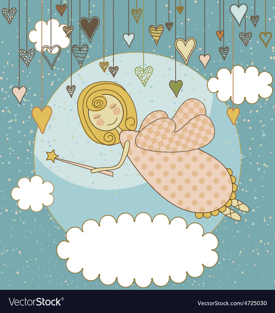 Sweet fairy card vector | Price: 1 Credit (USD $1)