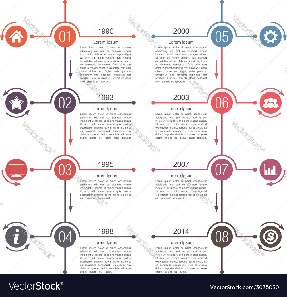Timeline template vector | Price: 1 Credit (USD $1)