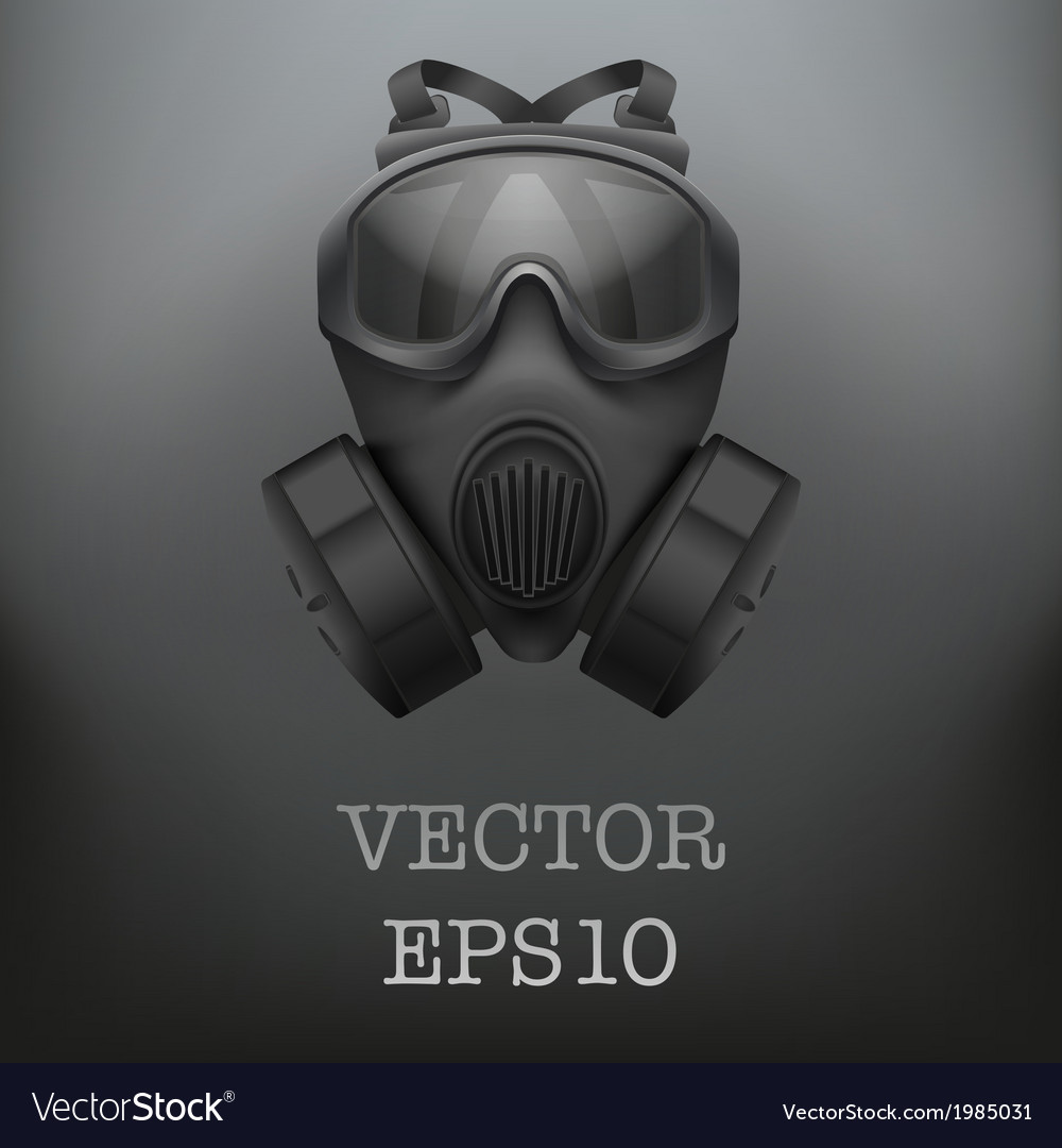 Background of military black gasmask vector | Price: 1 Credit (USD $1)