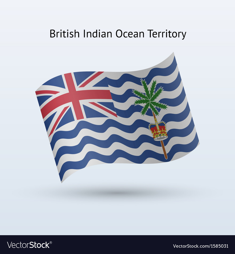British indian ocean territory flag waving form vector | Price: 1 Credit (USD $1)