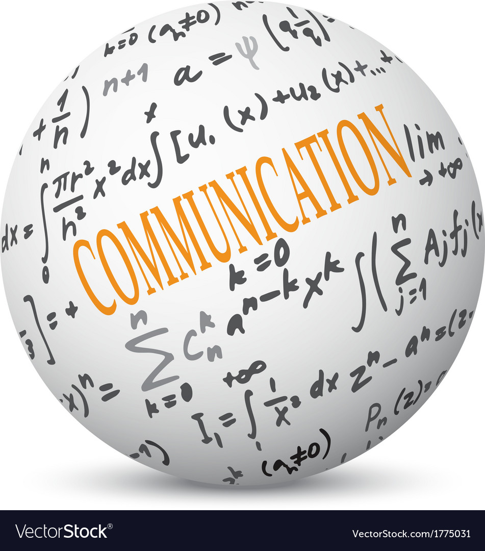 Communication concept with formulas vector | Price: 1 Credit (USD $1)