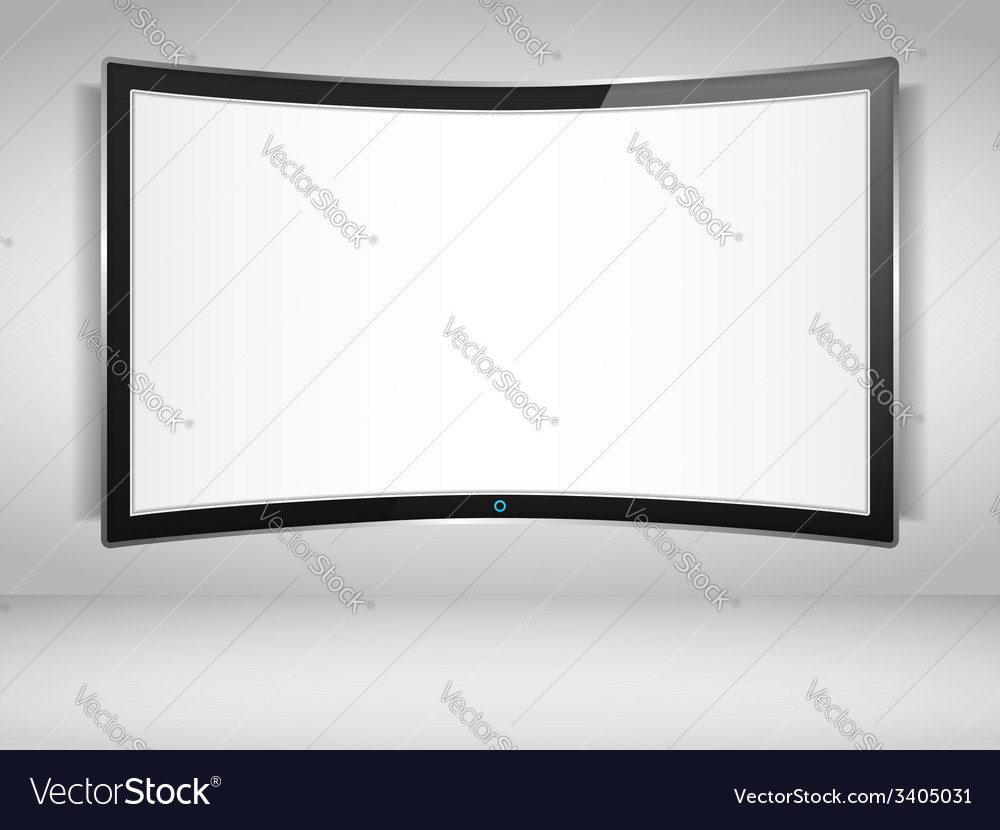 Curved tv screen vector | Price: 1 Credit (USD $1)