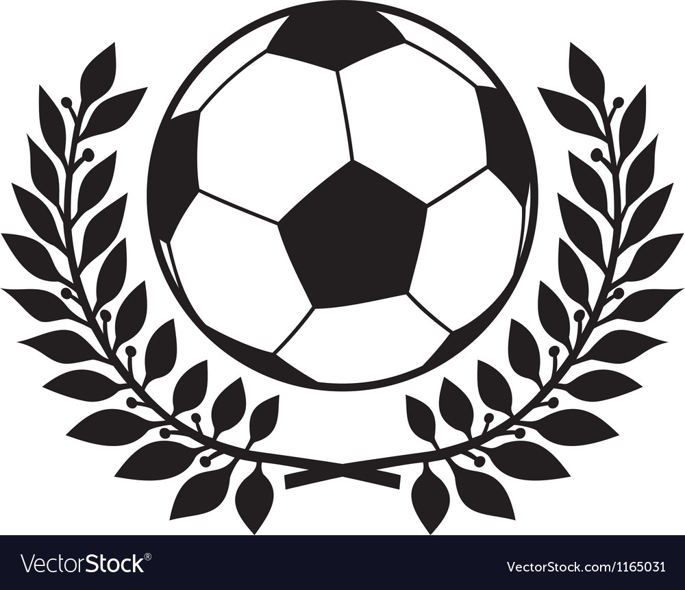 Football ball and laurel wreath vector | Price: 1 Credit (USD $1)