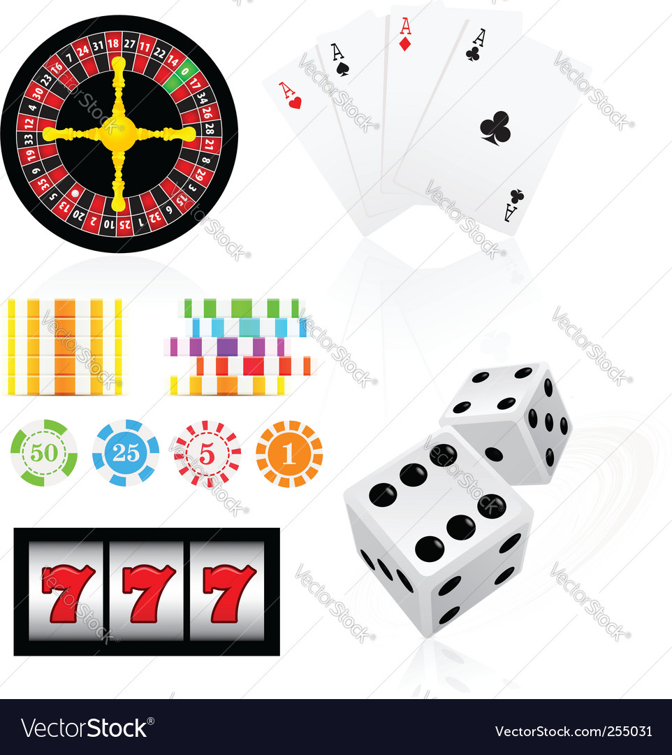 Gambling icon set vector   Price: 1 Credit (USD $1)